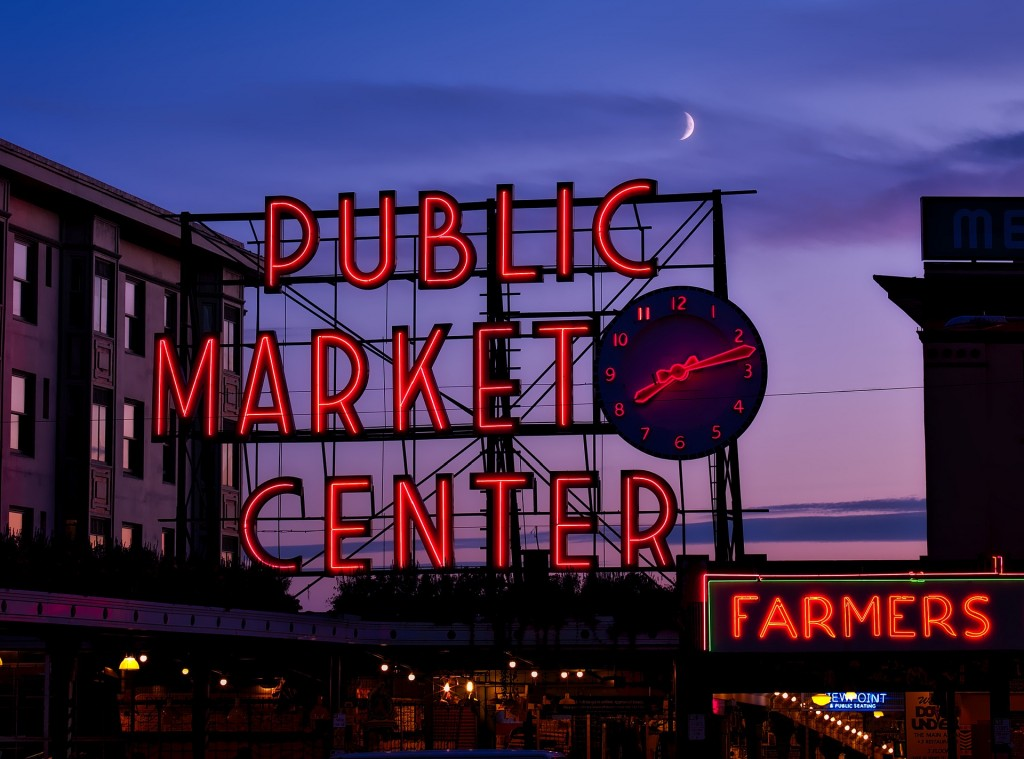 The Public Market in Seattle is one of the best places in the country to get fresh seafood.
